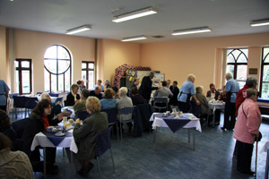 Lifeboat Tea Room on a busy day